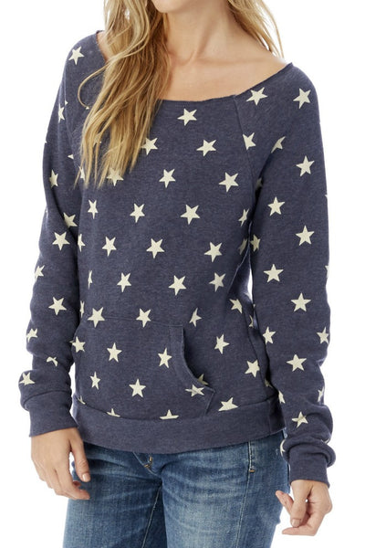 Alternative Apparel Maniac Sport Star Print Fleece Sweatshirt