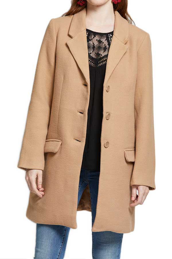 BB Dakota Camel Coat