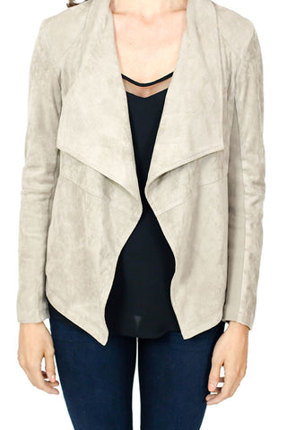 BB Dakota Faux Suede Blazer (Available in Toffee and in Black)