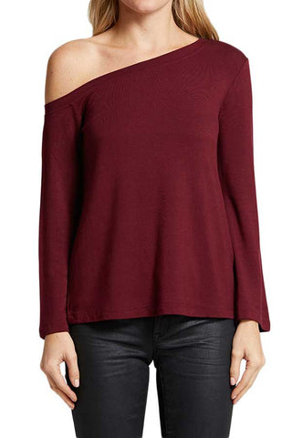 BB Dakota Mostly Good One Shoulder Top
