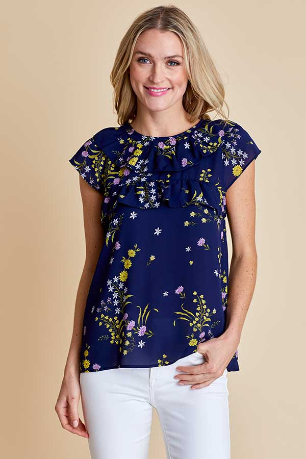 BB Dakota Next Level Stardust Floral Printed Top