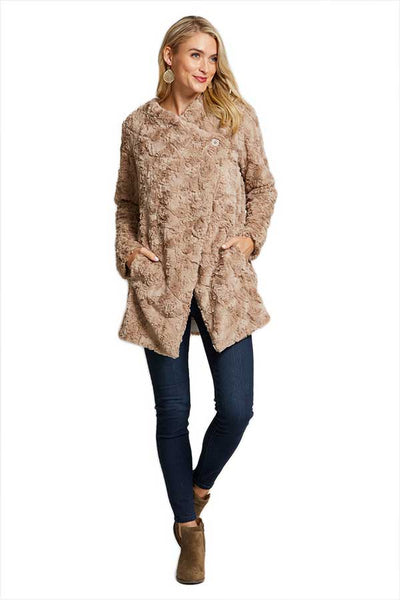 BB Dakota Tucker Faux Fur Side Button Coat