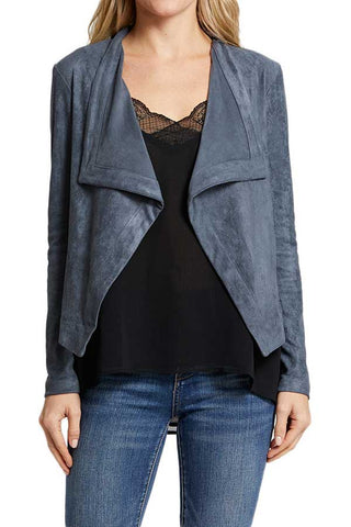 BB Dakota Wade Drape Front Faux Suede Jacket (Exclusive Color)