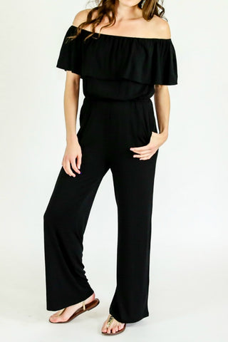 BB Dakota Off The Shoulder Jersey Jumpsuit