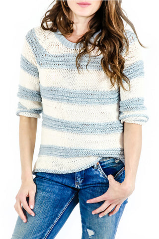 BB Dakota Stripe Tape Yarn Sweater