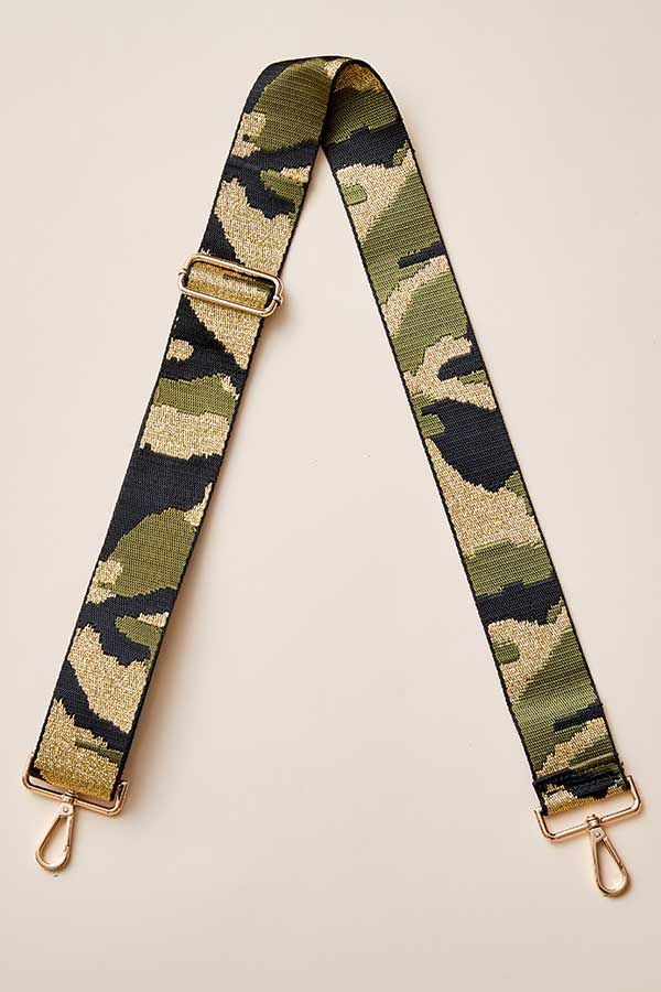Load image into Gallery viewer, Gold Camo Bag Strap