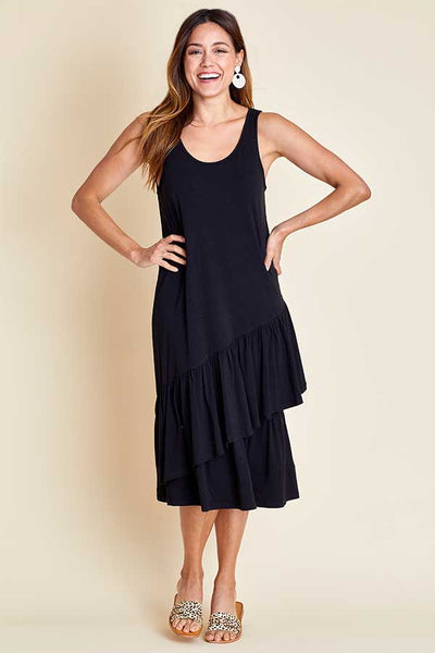 Beach Lunch Lounge Ruffle Jersey Tank Dress