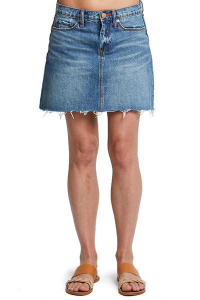 Blank NYC Denim Cut Off Skirt