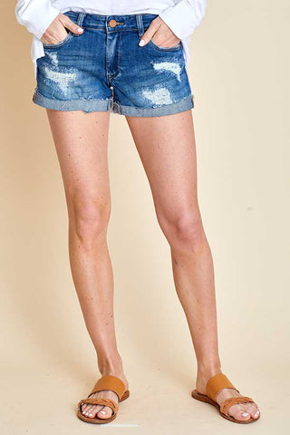 Blank NYC Dress Down Party Cutoff Denim Shorts