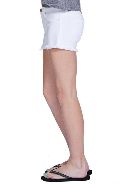 Blank NYC Kids White Cut Off Shorts
