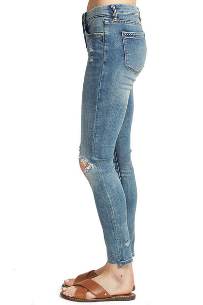 Blank NYC Shot Not High Waisted Distressed Jeans