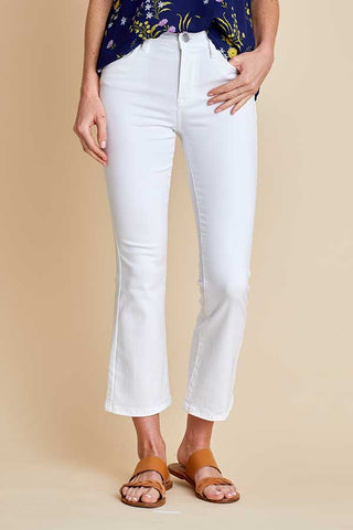 Blank NYC Varick Crop Flare White Jeans