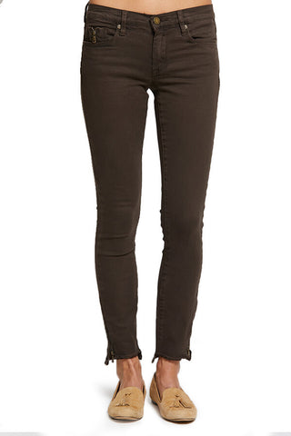 Blank NYC Intergalactic Brown Ankle Zipper Jeans