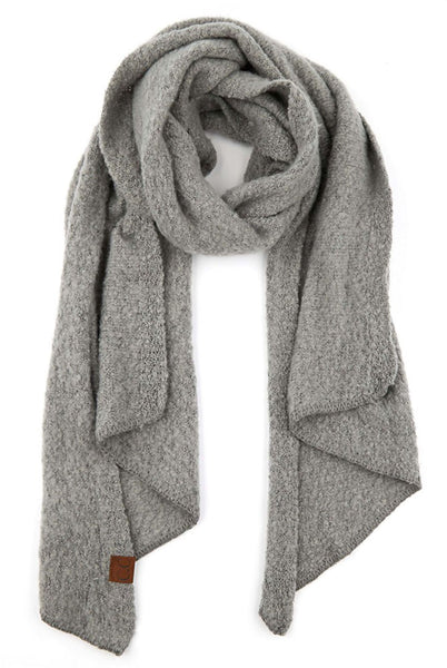 CC Solid Whipstitch Edge Scarf