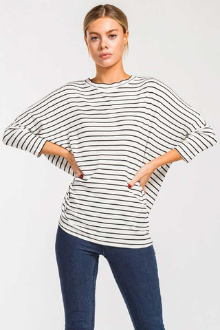 Cherish Stripe Dolman Sleeve Top