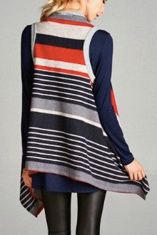 Cherish Sleeveless Stripe Knit Vest