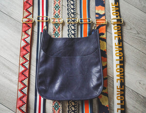Vegan Messenger Bag (available in Black, Camel, Grey & Navy)- STRAP NOT INCLUDED
