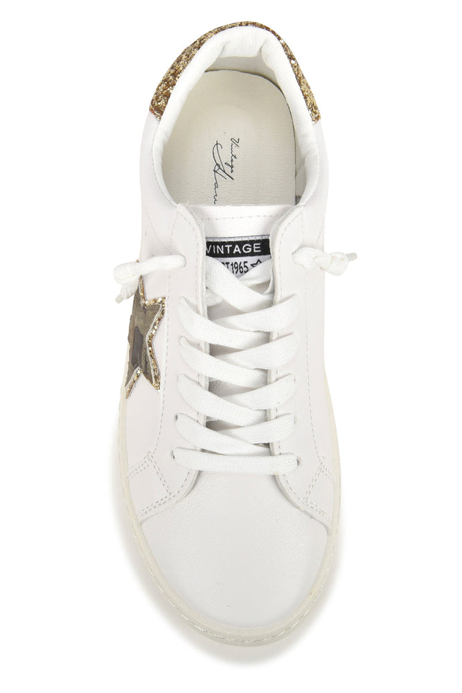 Load image into Gallery viewer, Vintage Havana Bianca Gold Camo Star Sneaker
