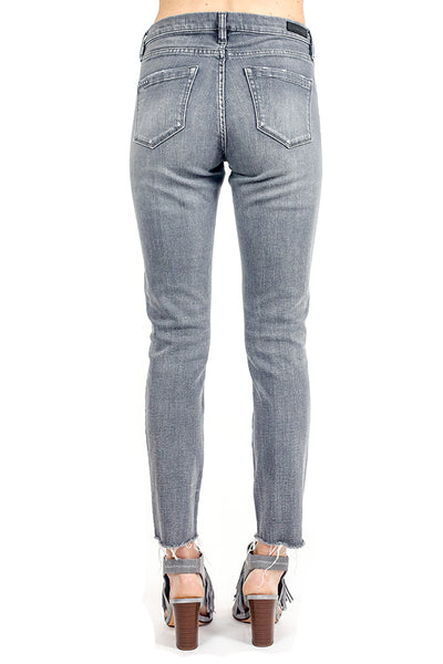 Blank NYC Skinny Distressed Grey Jeans