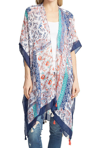Do Everything In Love Multi Tassel Kimono