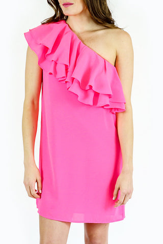 Do + Be One Shoulder Ruffle Dress