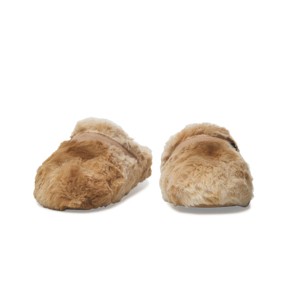 Load image into Gallery viewer, Vintage Havana Faux Fur Sherpa Cozy Slip On Shoes