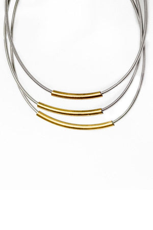 Load image into Gallery viewer, Emerson & Oliver Triple Tube Stack Dia Bracelets (Set of 3)