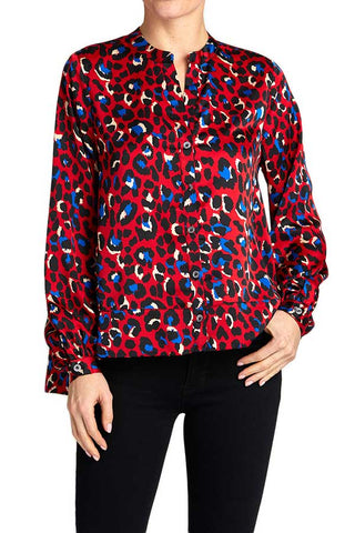 FRNCH Red Leopard Top