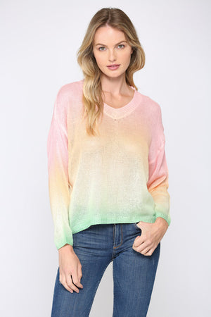 Load image into Gallery viewer, Fate Rainbow Ombre Tie Dye Sweater