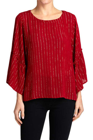 Gilli Lurex Detail Holiday Top
