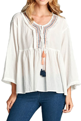 Hailey and Co. Gauze Tunic Top