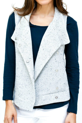 BB Dakota Assymetrical Close Knit Vest