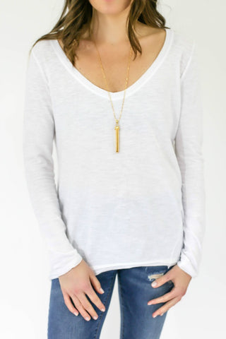 RD Style Long Sleeve V-neck Tee