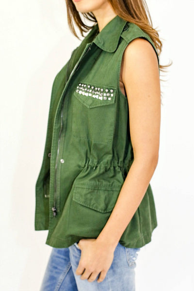 BB Dakota Studded Army Vest