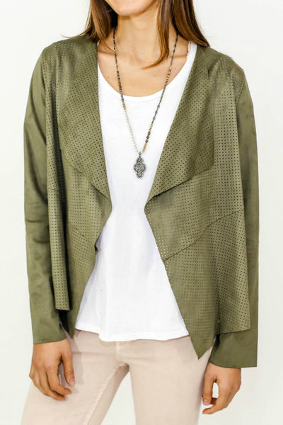 Jack by BB Dakota Perforated Suede Jacket