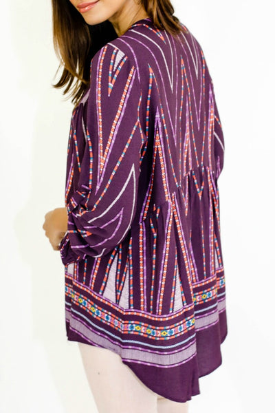 Daniel Rainn Printed Boho Top