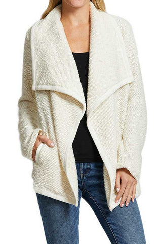 Jack Abriana French Terry Jacket with Rib Trim