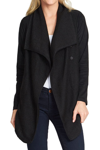 Jack French Terry Jacket with Suede Sleeves