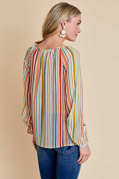 Jack Painted Desert Stripe Chiffon Top