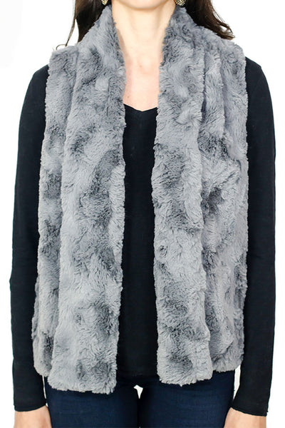 Jack by BB Dakota Grey Faux Fur Vest