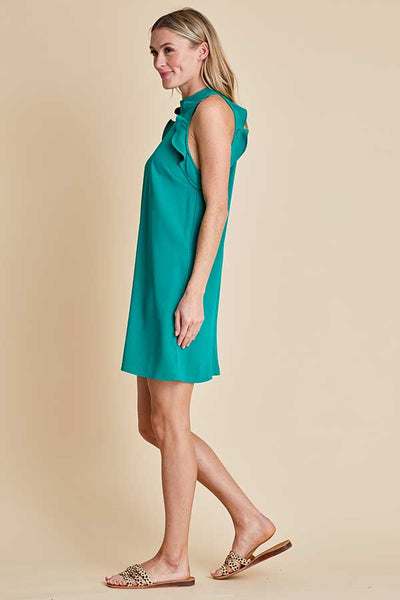 Jack by BB Dakota Question Ruffle Halter Dress