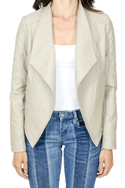 Jack by BB Dakota Quilted Faux Leather Jacket