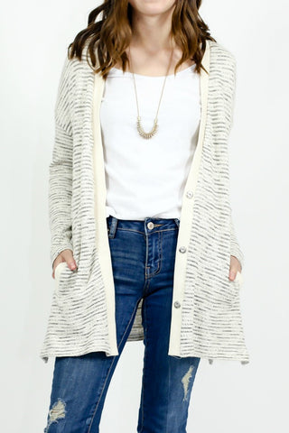 Jack by BB Dakota Striped Cardigan