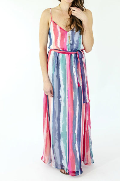 Jack by BB Dakota Multi Color Stripe Maxi Dress