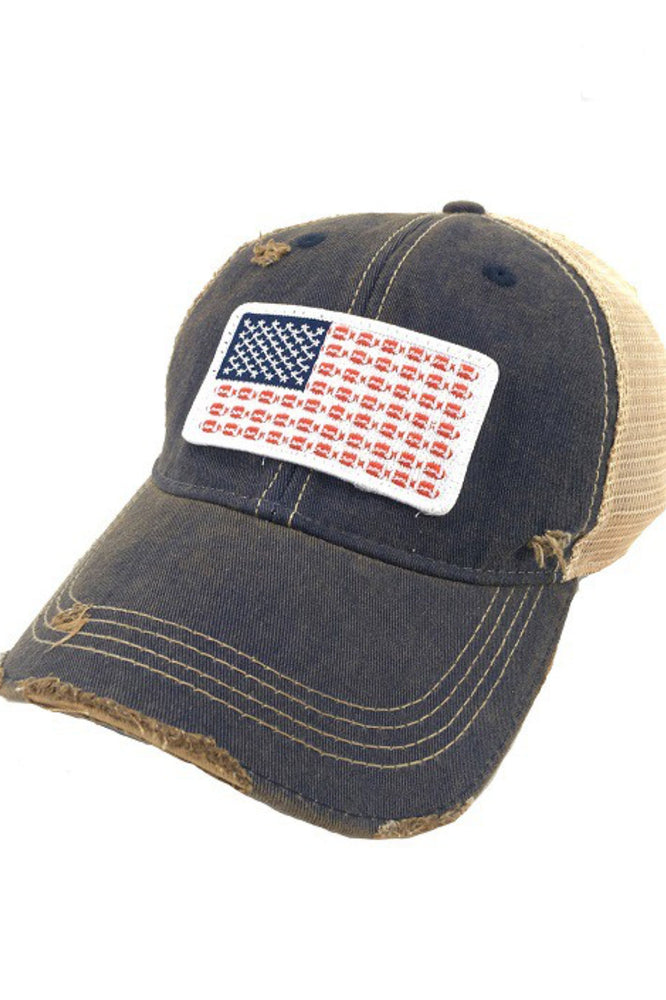 Judith March Flag Football Distressed Baseball Hat