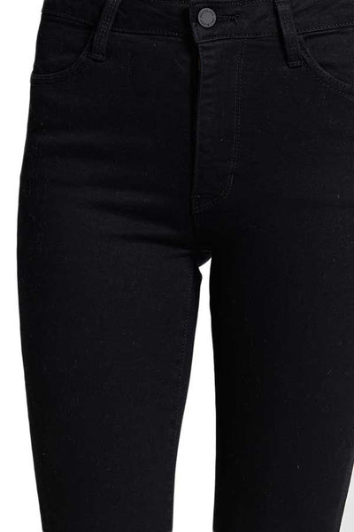 Just Black Skinny Raw Hem Black Jeans