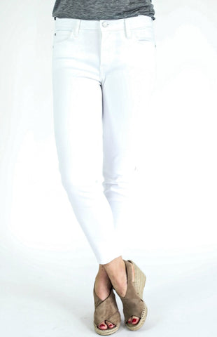 Just Black White Skinny Ankle Jeans