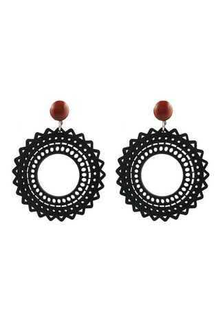 Katie Bartels Black Vara Earrings