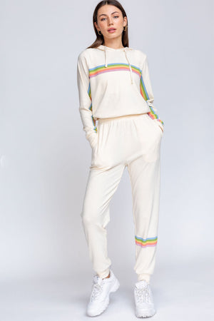 Rainbow Stripe Jogger Sweatpants