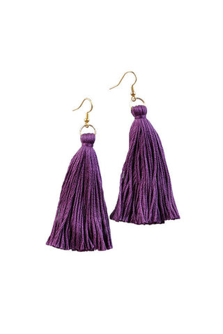 Libby and Smee Ultraviolet Tassel Earrings